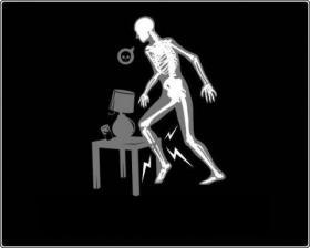 """""""עצם השוק היא מכשיר למציאת רהיטים בחדר חשוך."""""""